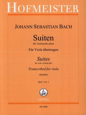 BACH - Suiten Für Violoncello Allein, Heft 1 - Alto - Partition - di-arezzo.fr