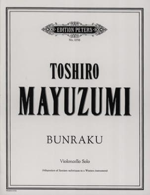 Bunraku Toshiro Mayuzumi Partition Violoncelle - laflutedepan