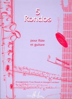 5 Rondos Rivoal Yvon / Lambert Georges Partition Duos - laflutedepan