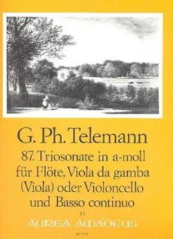 Sonate en Trio en la Mineur N°87 - Twv42:a7 TELEMANN laflutedepan