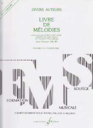 Livre de Mélodies Volume 2 - 1er Cycle B - laflutedepan.com