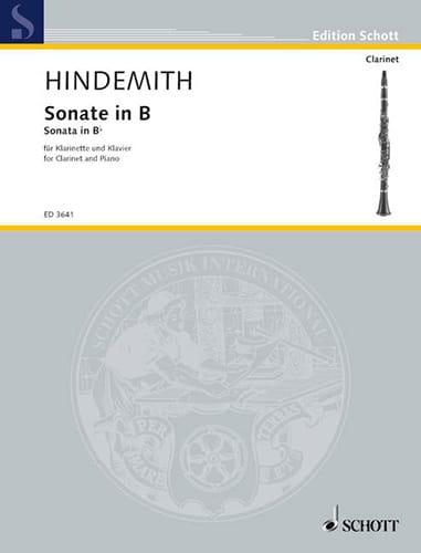 Sonate in B -Klarinette Piano - HINDEMITH - laflutedepan.com