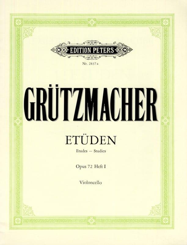 12 Etüden op. 72 - Heft 1 - Friedrich Grützmacher - laflutedepan.com