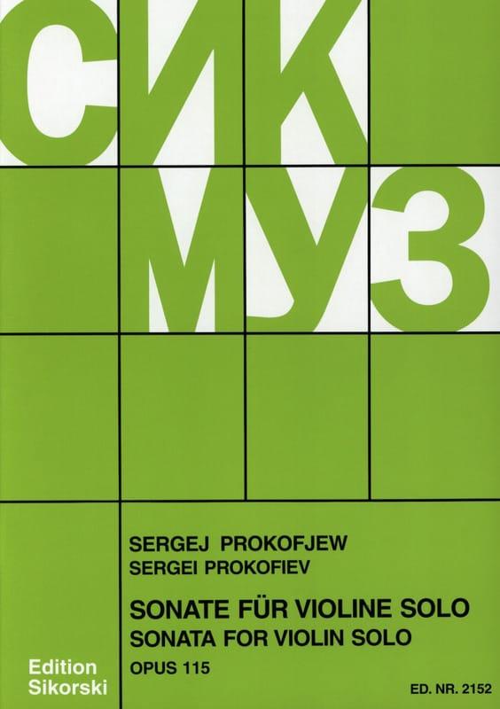 Sonate op. 115 für Violine solo - PROKOFIEV - laflutedepan.com