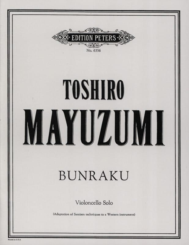 Bunraku - Toshiro Mayuzumi - Partition - laflutedepan.com