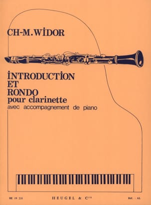 Introduction et Rondo WIDOR Partition Clarinette - laflutedepan