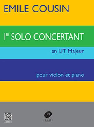 Solo concertant n° 1 en Ut Majeur Emile Cousin Partition laflutedepan