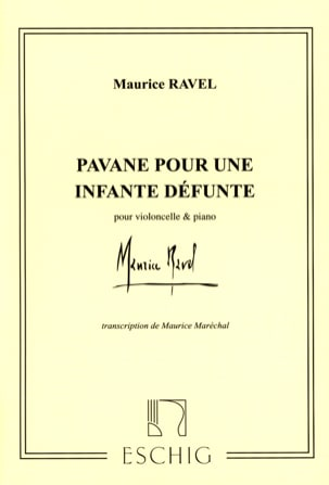 Pavane pour une Infante défunte - Cello RAVEL Partition laflutedepan