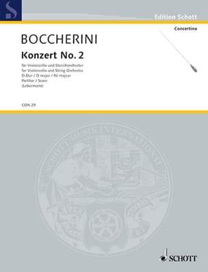 Violoncello-Konzert n° 2 D-Dur BOCCHERINI Partition laflutedepan