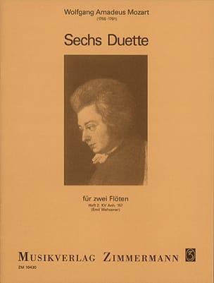 6 Duos - Heft 2 : KV Anh. 157 - 2 Flöten MOZART Partition laflutedepan