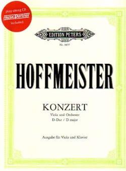 Concerto Alto en ré majeur HOFFMEISTER Partition Alto - laflutedepan