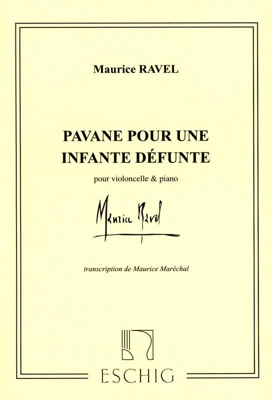 Pavane pour une Infante défunte - Cello - RAVEL - laflutedepan.com