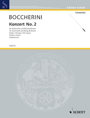 Violoncello-Konzert n° 2 D-Dur - BOCCHERINI - laflutedepan.com