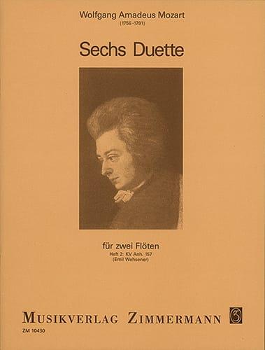 6 Duos - Heft 2 : KV Anh. 157 - 2 Flöten - MOZART - laflutedepan.com