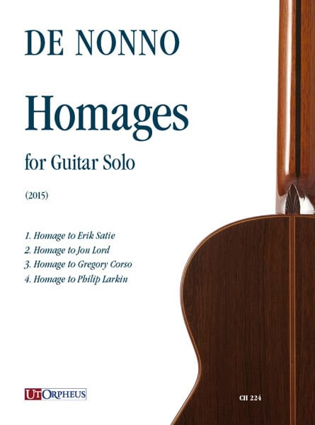 Homages 2015 - Guitare seule - Carlo De Nonno - laflutedepan.com