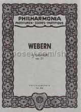 Kantate Nr. 2 op. 31 - Partitur WEBERN Partition laflutedepan
