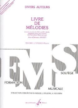 Livre de Mélodies Volume 5 - Moyen Jean-Clément Jollet laflutedepan