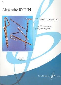 Chanson Ancienne - 4 Flûtes En Ut-Piano Alexandre Rydin laflutedepan