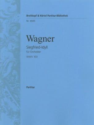 Siegfried-Idyll - Conducteur WAGNER Partition laflutedepan