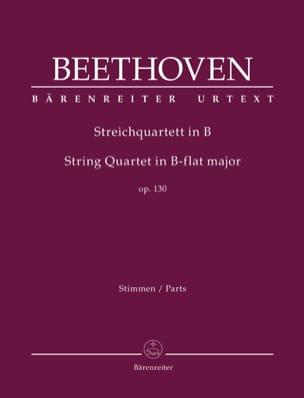 Ludwig van Beethoven - Cuarteto de cuerda, op. 130 - Piezas separadas - Partition - di-arezzo.es