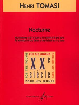 Nocturne TOMASI Partition Clarinette - laflutedepan