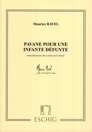 Pavane pour une infante défunte - Alto RAVEL Partition laflutedepan