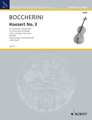 BOCCHERINI - Concerto N ° 3 for Cello - Partition - di-arezzo.co.uk