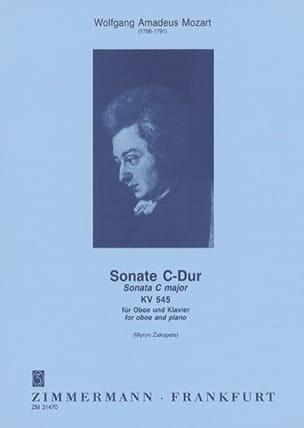 MOZART - Sonata C-Dur Kv 545 - Partition - di-arezzo.com