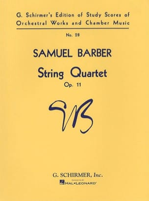 Samuel Barber - Cuarteto cuarteto op. 11 - Puntuación - Partition - di-arezzo.es