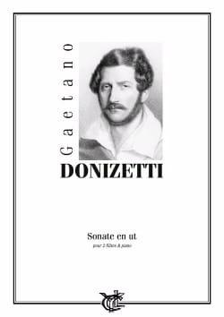 Sonate en Ut - 2 Flûtes/Piano DONIZETTI Partition Trios - laflutedepan