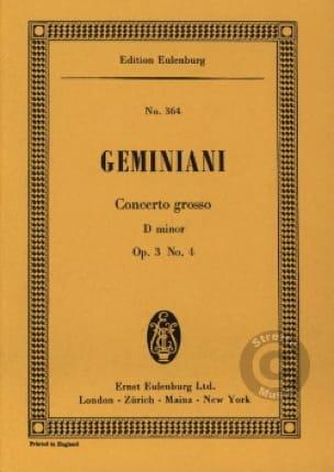 Concerto grosso d-moll - Francesco S Geminiani - laflutedepan.com