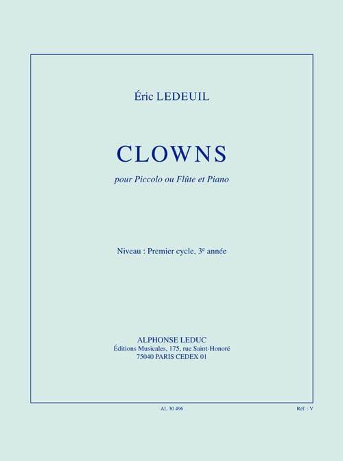 Clowns - Eric Ledeuil - Partition - laflutedepan.com