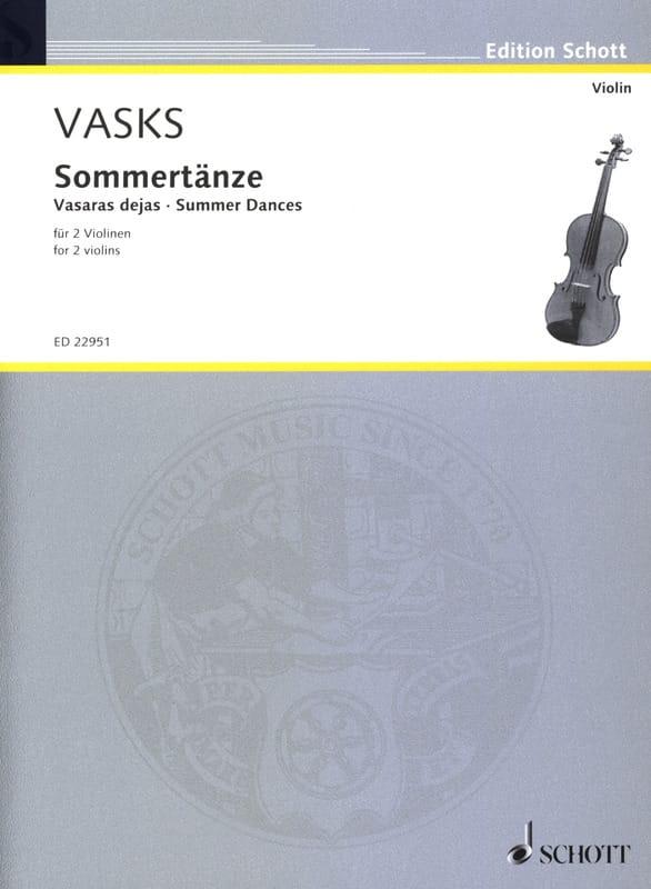 Sommertänze - Peteris Vasks - Partition - Violon - laflutedepan.com