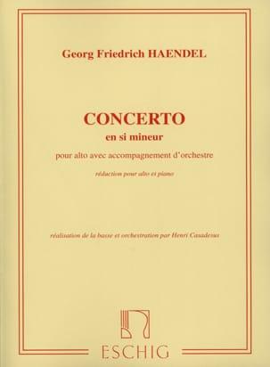 Concerto Alto en si mineur HAENDEL Partition Alto - laflutedepan