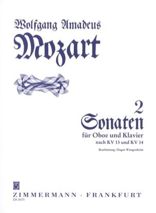 2 Sonaten - Oboe und Klavier MOZART Partition Hautbois - laflutedepan