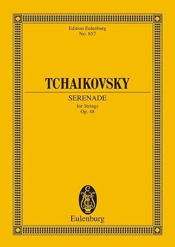 Serenade C-Dur, op. 48 - Partitur - TCHAIKOVSKY - laflutedepan.com