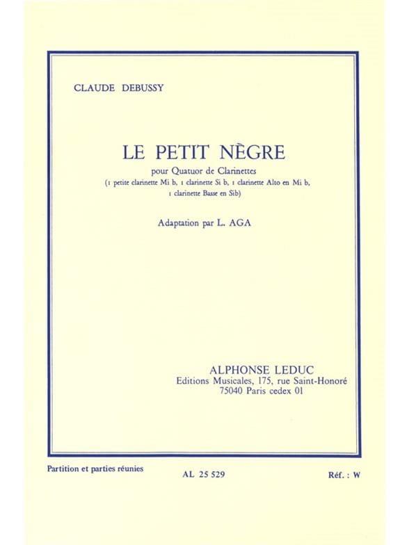 Le petit nègre - quatuor clarinettes - DEBUSSY - laflutedepan.com