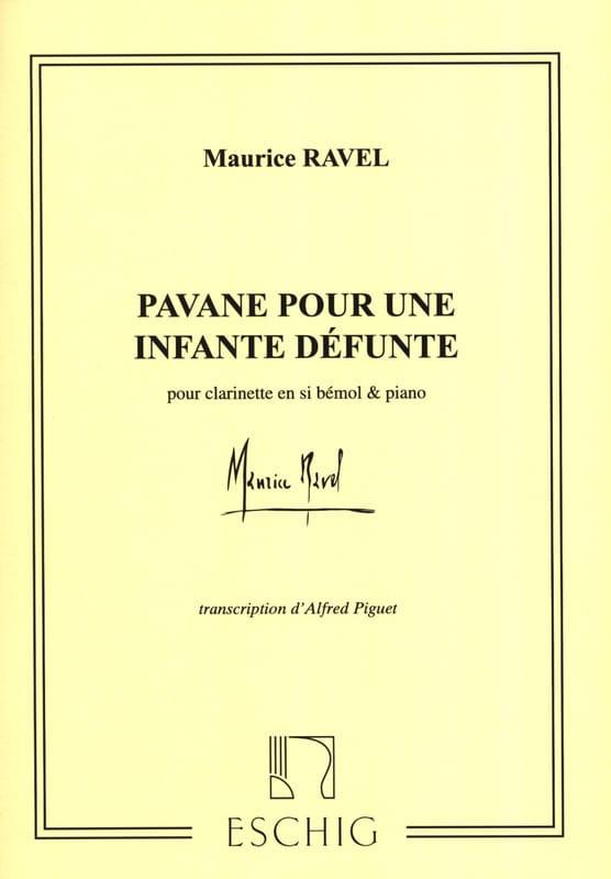 Pavane pour une infante défunte - Clarinette - laflutedepan.com