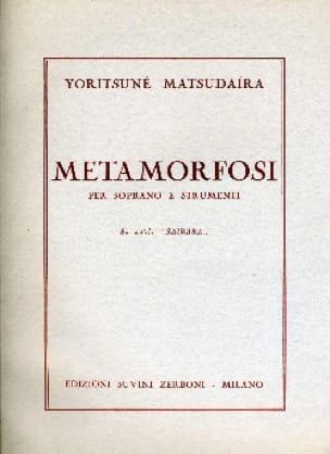 Metamorfosi - Yoritsuné Matsudaïra - Partition - laflutedepan.com