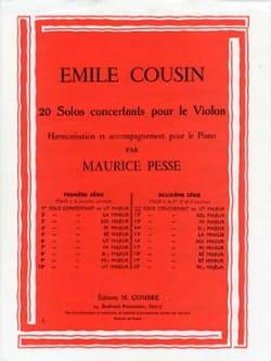 Solo concertant n° 11 en ut majeur Emile Cousin Partition laflutedepan
