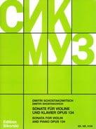 Sonate Op. 134 CHOSTAKOVITCH Partition Violon - laflutedepan
