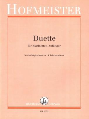 Duette für Klarinetten-Anfänger Partition Clarinette - laflutedepan