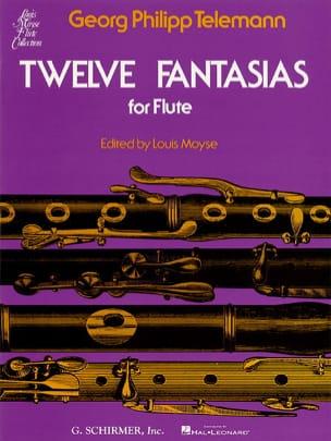 TELEMANN - 12 Fantasias - Solo Flute - Partition - di-arezzo.com