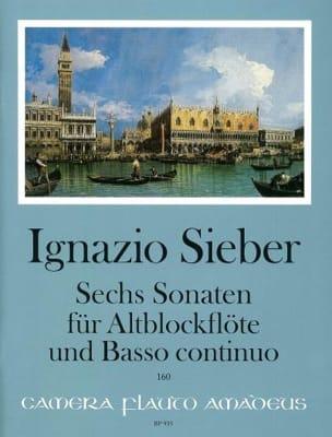 Sechs Sonaten für Altblockflöte und BC Ignazio Sieber laflutedepan