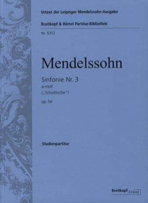 Symphonie N° 3 Opus 56 En la Min. MENDELSSOHN Partition laflutedepan