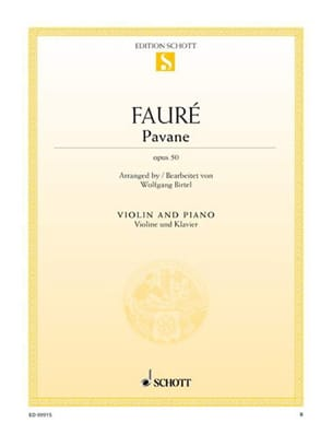 Pavane Op. 50 - Violon FAURÉ Partition Violon - laflutedepan