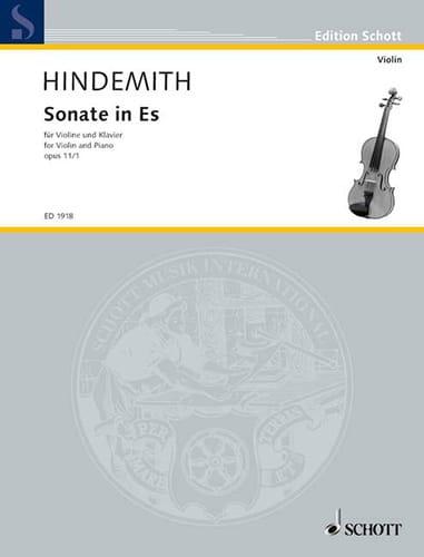 Sonate op. 11 n° 1 in Es - HINDEMITH - Partition - laflutedepan.com