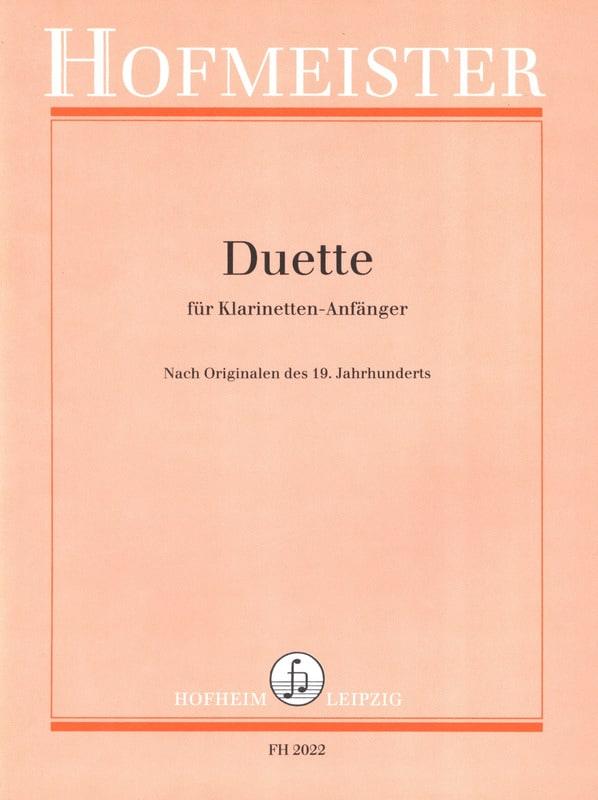 Duette für Klarinetten-Anfänger - Partition - laflutedepan.com