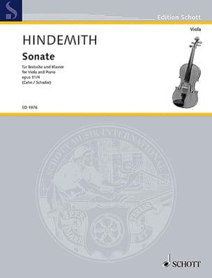 Sonate, op. 11 n° 4 HINDEMITH Partition Alto - laflutedepan