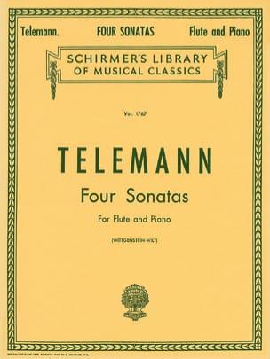 4 Sonatas - Flûte et Piano TELEMANN Partition laflutedepan